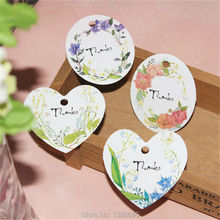 50pcs Handmade Label Sticker DIY Round Hand Made Kraft Paper Etiquetas Thanks for Gift Box Bag Cake Baking Sealing Hang