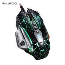 RAJFOO Laser 8 Keys Gaming Mouse with Macro Programming 128k Memory 4000DPI 5 Colors Backlit USB Mice Gamer for Computer Game