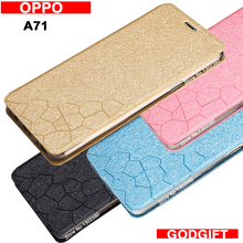Godgift for oppo A71 case cover leather luxury water cube pu flip case for oppo A 71 cover case 4 style A71 oppo phone case