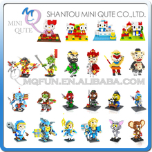 Mini Qute LOZ diamond Monkey King hello kitty Jerry Mouse Tom Cat plastic building block model action figures educational toy - WTOYW METAL PUZZLE & PLASTIC BLOCKS WORLD store