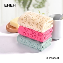 EHEH 3 PCS/Lot Microfiber Face Towel 25*50cm Solid Fresh design Towel 3 Color Quality Quick Dry Hand Towels For Bathroom EH009