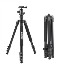 Zomei Q555 Lightweight Travel Camera Tripod with Ball Head Quick Release Plate For Canon Nikon Sony Panasonic Olympus Fuji DSLR(China)