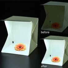 23*22*3CM Portable Mini Folding Softbox LED Photo Studio Box Built-in Light Photography Backdrop Backgound Soft and Lightbox