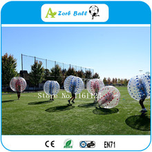 6pcs+1pump,bumper ball with 1.2m of TPU materials crazy sport! newly style TPU human bubble ball suit , bubble soccer ,(China)