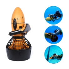 New Arrival Waterproof 300W Electric Sea Scooter Dual Speed Underwater Propeller Diving Pool Scooter With Battery (Ginger)
