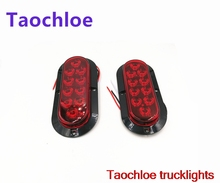 "2x 12V Trailer truck Red 10 LED Car covers Surface Mount 6"" Oval Stop Turn Tail Light tail lights Marker light external lights"