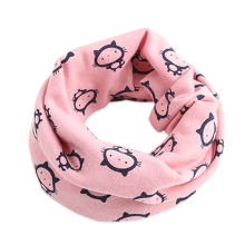 Baby Children Boys Girls Winter Warm Little Cat O-Ring Collar Cotton Neck Scarf -Y107