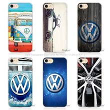 Hot Sale Volkswagen vw bus Hard Transparent Phone Case Cover Coque for Apple iPhone 4 4s 5 5s SE 5C 6 6s 7 Plus