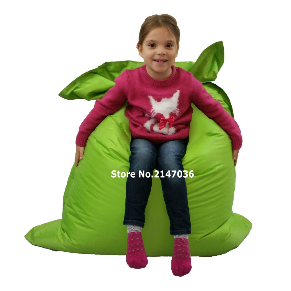 Green outdoor water and dirt resistant bean bag chair<br>