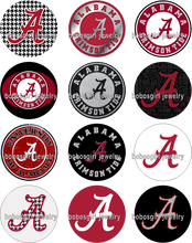 ALABAMA NCAA FOOTBALL glass Snap button Jewelry Charm Popper for Snap Jewelry good quality picture pendant Gl343 BOBOSGIRL(China)