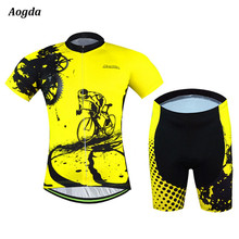 2016 New Arrival AOGDA Cycling Jersey Set Short Sleeve Bike Bicycle Sportswear Ropa Ciclismo Outdoor Breathable Cycling Clothing