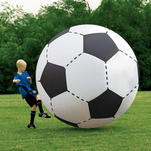 Giant Inflatable Football Toys Ball 130cm Inflated Beach Ball Outbdoor Fun Sport Toys Children Play Game Props Water Pool Float