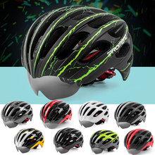 Ultralight Goggles Cycling Helmet Bicycle MTB Road Bike Casco Ciclismo 56-62CM Sport Capacete Eyes & Head Protection 9Colors