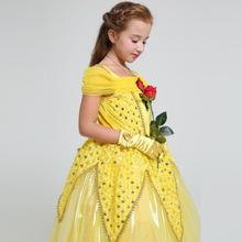 Garland Princess Girl Dress Costumes Belt Kids Frock Designs Dresses Costume Girls Christmas Birthday Party Cosplay