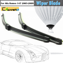 Auto Soft Rubber Rain Snow Wiper Blades For Alfa Romeo 147 2005-2009 1Pair Car Bracketless Windshield Wiper Blade