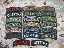 Arc Custom name Tape Text brand Morale tactics Military Embroidery patch(China)