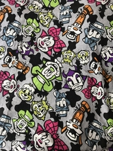 50*180cm Cartoon Halloween Mickey Minnie Sewing terry cotton fabric printed boy clothing making fabric DIY fabric(China)