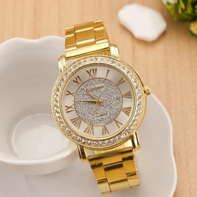 2016 New Brand Quartz Watch Women Not Waterproof Matte Silver And Gold Male Watch Business Men Watch Roman Numerals Kanima LZ547<br><br>Aliexpress