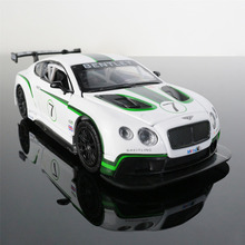 Car Model 1:32 BENTLEY GT3 Alloy Diecast Exquisite Car Toy Open Door Pull Back Cars Gifts