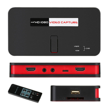 284 HD Video Game Capture 1080P HD / YPbPr Component or Composite Recorder into USB Disk SD Card For DVD PS3 Set-top Box