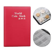 Portable 120 Coins Collection Album Money Coin Cases Collection Penny Book Pockets Storage Holder Collector Craft Gift Red PML