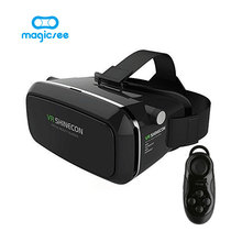VR Shinecon Plastic VR 3D Glasses google cardboard HD Glasses for 3.5-6.0 inch Phone+Bluetooth Wireless Mouse gamepad VR BOX 3.0