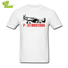 p-51 Mustang T Shirt Men Summer O Neck Cheap Tees Adult New Coming Plus Size Tshirts Printed Loose Guys Tee Shirts Airplane(China)