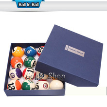 "Pool Table Billiard Ball Set, Art Number Style 2 1/4"" Complete Set of  Balls5.72cm 2.25"" Cue Ball"