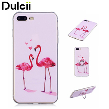 Buy DULCII Apple iPhone 8 Plus, 7 Plus Case Capas Pattern Printing Embossed Finger Grip TPU Stand Cell Phone Cover Shells Bag for $2.42 in AliExpress store