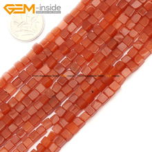 Natural Cube Beads Square Beads For Jewelry Making Rose Quartzs Red Aventurine Larvikite DIY FreeShipping Wholesale Gem-inside