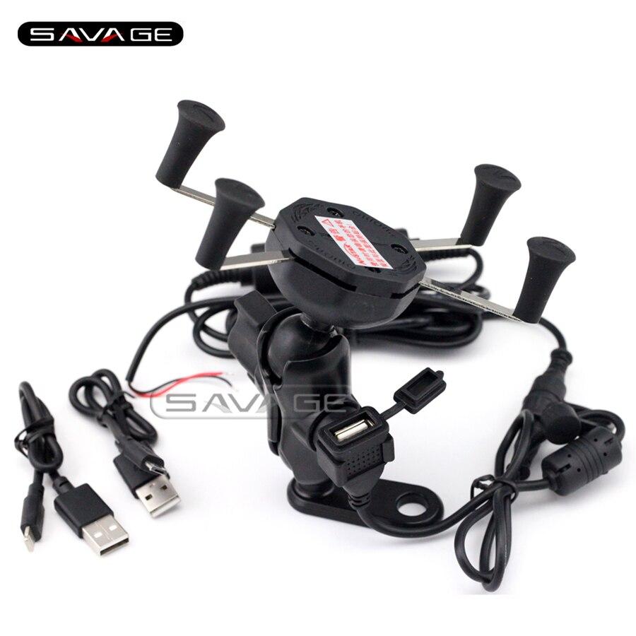 For HONDA ST1300 VFR800X VFR1200X XR650L Motorcycle Navigation Frame Mobile Phone Mount Bracket with USB charge port<br>