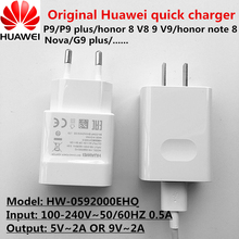 100% Original 9V 2A QC2.0 Travel Quick Charger Adapter Type C Cable For Huawei P9 p9 plus honor 8 9 Note 8 G9 plus v8 v9 Nova 2
