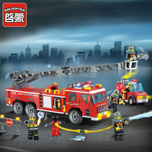 2017 Low Price Enlighten Heavy Fire Rescue Truck 908 Building Block Assemble DIY Active Mind& Hand Brick Kids Toys Gifts