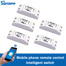 5pcs/lot Sonoff DIY Remote Wireless Switch Universal Module Wifi light Switch by phone App for Smart Home Automation itead 220v
