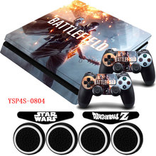 PS4 Slim Vinyl BATTLEFIELD 1 Protective Sticker Decal Skin +LED Light Bar Stickers For Palystation 4 Slim Console Doulshock 4