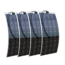 400W 4X100W mono flexible solar panel with 45A Solar Power Controller solar module energy Roof Camper RV Yacht(China)