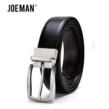 Men Belts For Revolvable Buckle Man Luxury Design Leather Belts High Quality Silver Buckle And Gold Buckle Free Shipping(China)