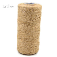Lychee 100 Meter DIY Natural Hemp Twine Cord Jute Twine Rope Apparel Sewing Fabric Cords(China)