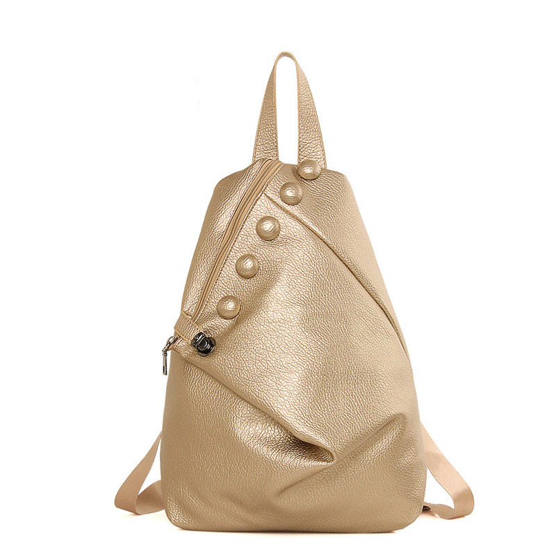 Women Backpack Chest Pack Leisure Travel Shoulder Bag Men Leather Crossbody Bags Vintage Retro Bag  Ladies Sling Bag Girls <br>