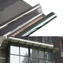 50cm x 2M One Way Mirror Window Film Solar Reflective Insulation Silver Stickers