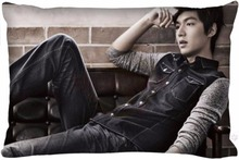 Top Selling Lee Min Ho Actor Custom Zippered Rectangle Pillowcases Pillow Cover Case(China)