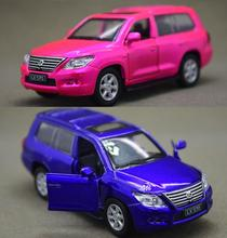 Candice guo alloy car scale model 1:43 LX570 city SUV vehicle motor Lexus pull back baby Christmas present kid birthday gift 1pc