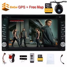 Car DVD Radio universal Double Din Car autoradio DVD Player GPS Navigation Stereo Head Unit video+Free two 2din gps Map camera(China)