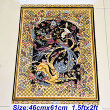 Mingxin 1.5x2ft Lovely Rabbit Deer Design Tapestry Hand Weave Silk Rug For Bedroom Silk Carpet And Art Silk Carpets Room Mat