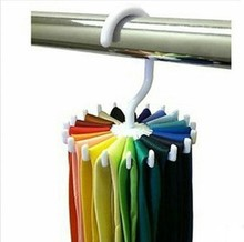 Creative Multi-functional Plastic 360-degree Rotating Tie Rack Multi-purpose Rack Pawl 20 Scarves Storage Shelf