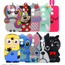 3D Cartoon Soft Silicon Case For Huawei Ascend G8 Bunny Unicorn Cell Phone Back Cover for Huawei G8 case GX8 G7 Plus Maimang 4
