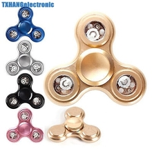 3 LED Light Tri-Spinner Fidget Toy metal EDC Hand Spinner For Autism and ADHD Rotation Time Long Anti Stress Toys