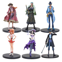 17-18cm Anime One Piece DXF Luffy Zoro Sanji Nami Nico Sabo The Grandline Men Lady 15th Anniversary PVC Action Figure Model Toy(China)