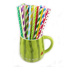100pcs Eco crarft Paper Straws Paper Drinking Straws For Kids Birthday Party Wedding Decorations E265(China)