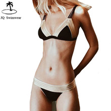 Buy 2018 New Bikini Womens Halter Bandage Bikini Push Triangle Swimsuit Sexy Bathing Suit Bathing Suit Two Pieces Swimwear Bikini